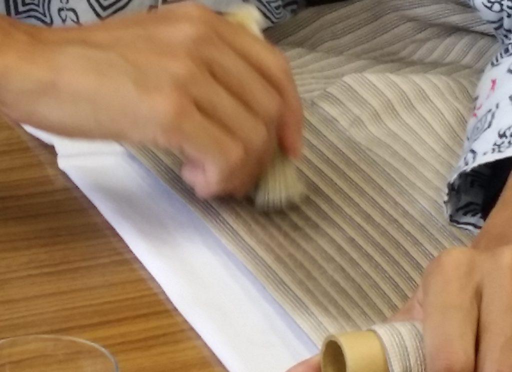 着物染み抜き教室・ベンジン実演2014